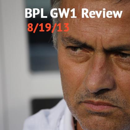 BPL GW1 Review - RVP, Rooney, Mourinho, Arsenal