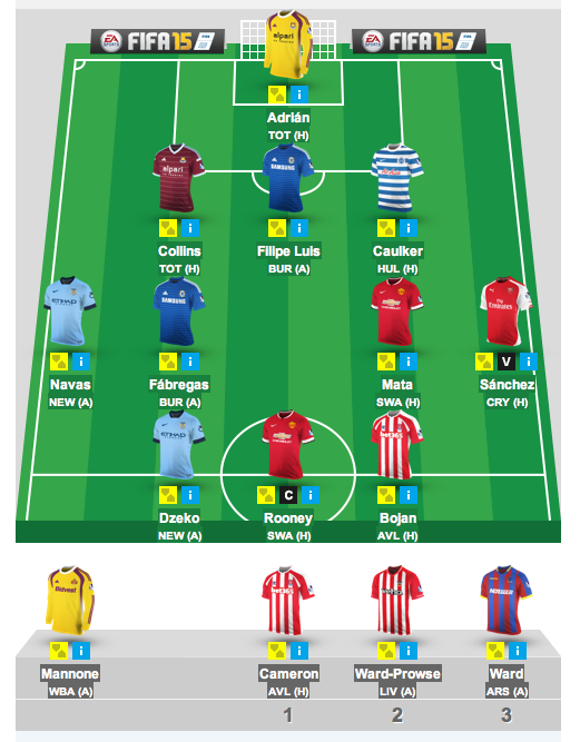 Fantasy Premier League - GW1 My Team Lineup (Early August)