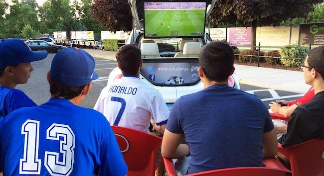 Interactive Video Gaming Station Soccer Ball Car