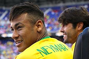 Neymar and Kaka Brazil 2016 Copa America