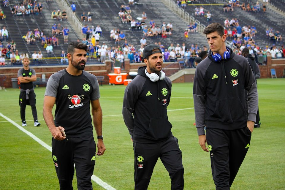 Image result for Costa and Courtois chelsea